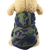 Ropa para Mascotas,Gusspower Sudadera con Capucha Camuflaje Moda Mascotas Perros Gatos Caliente algodón Suéter Abrigos