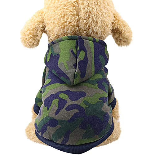 (Dragon868 Hund Pullover Warm Woodland Camouflage Hoodied Sweatshirts Dog Pet Kleidung)