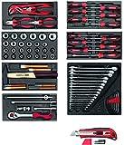 Gedore Red Juego de herramientas en espuma módulos,...