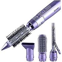 Cepillo de aire moldeador de pelo con 4 cabezales, 900 W secado rápido, función