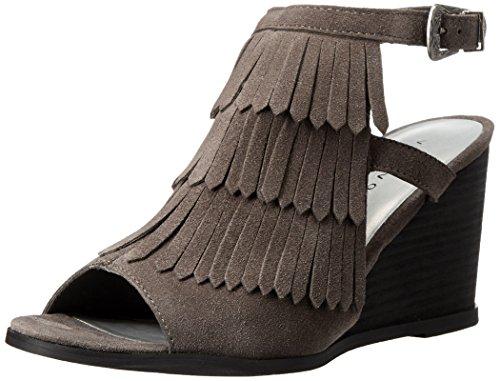 Very Volatile Notion Femmes Daim Sandales Compensés Grey