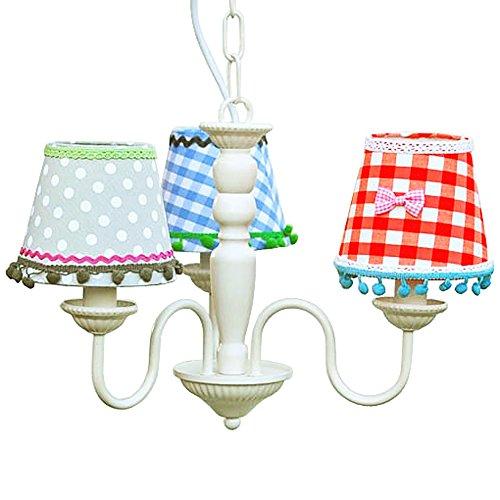 lounge-zone Lüster Kronleuchter Kinder-Kronleuchter  LEA 3 Lampenschirme