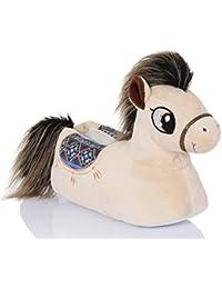 Snuggles Clothing, Para Mujer Cómodas Novedad 3D Animal Pantuflas - Pony Polly, 35.5-37 EU / S