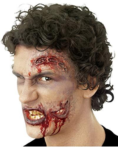 (Horror-Shop 2-teilige Zombie Wunde als Latexapplikation für Halloween)