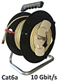 Kab24® CAT6a Patchkabel 50 auf Kabeltrommel 10 GBit/s 500MHz halogenfrei GHMT zertifiziert