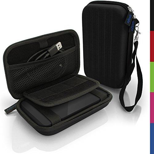 igadgitz Schwarz EVA Hart Tasche Schutzhülle für Western Digital My Passport Pro Tragbare Externe Festplatte Etui Case Cover - Western Cover