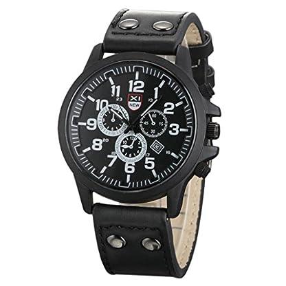 Franterd-Uhren-Herren-Armbanduhr-Weinlese-Mnner-imprgniern-Datum-Lederband-Sport-Quarz-Army-Uhr-Schwarz