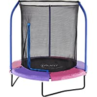Plum Unisex-Youth 30240AB82 New 6ft Trampoline with Safety Net, Multicolor, 6 Ft