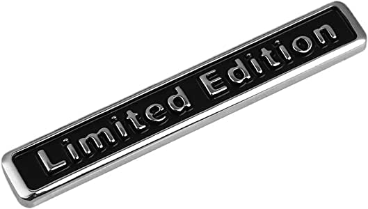 Noir//Chrome 3D Métal Édition Limitée Badge pour Voiture Camionnette Quad Scooter