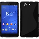 PhoneNatic Case für Sony Xperia Z3 Compact Hülle Silikon schwarz S-Style Cover Xperia Z3 Compact Tasche Case