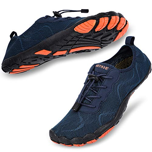 b1abdbe09cb hiitave Mens Trail Running Shoes Barefoot Wide Fit Cross Trainers Water  Shoes for Gym Beach Yoga