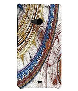 Nokia Lumia 535 MULTICOLOR PRINTED BACK COVER FROM GADGET LOOKS