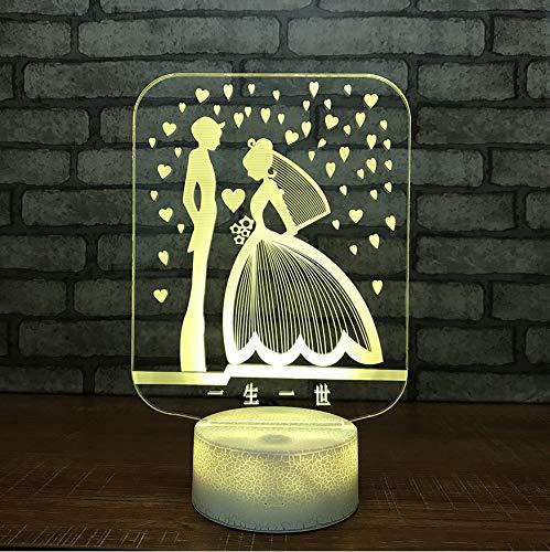 Nueva Moda Reloj Despertador 3D Luz Nocturna 7 Luz De Noche 3D Estado De Ánimo Dormitorio Salón Café Bar Iluminación Lámpara Regalo Para Niños