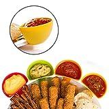LAS COSAS QUE IMPORTAN Dip Schälchen Snacks Kunststoff ideal für die Küche. Genießen Sie zu Hause von ihren mit Dieser Pack von 4Schälchen