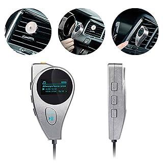 Dandeliondeme Auto-MP3-Player, Auto-Stereo, Aux-Eingang, Empfänger, Freisprecheinrichtung, Bluetooth V4.1, MP3, FM-Radio-Player