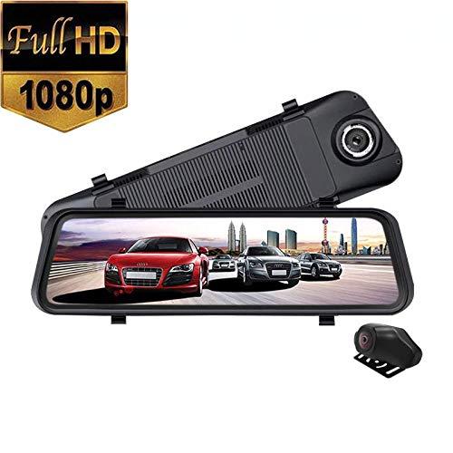 PNCS Dash Cam Voller Touchscreen Streaming Media RüCkspiegel Vorne und Hinten 1080p HD NachtsichtgeräT Mit 9,35 Zoll