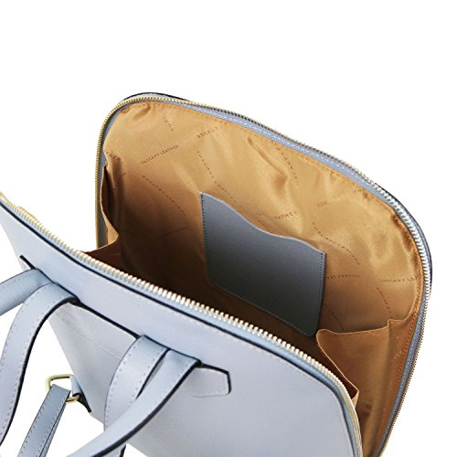 Tuscany Leather TL Bag - Zaino donna in pelle Saffiano - TL141631 (Nero) Celeste