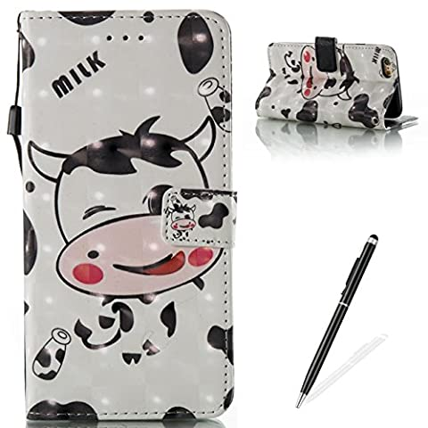 iPhone 6/6S Étui,Couverture iPhone 6/6S-MAGQI Luxe PU Cuir Porte-Monnaie Style