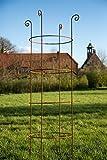 Stabile Rankhilfe Metall H: 180cm Ø: 49cm Rankgerüst Obelisk Roheisen/Rost Rankturm