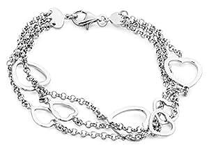 Miore - JAB72 - bracelet Coeur Femme - Argent 925/1000 8.8 gr - Longueur 18.5 cm