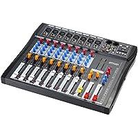 ammoon CT80S-USB 8 Linea Canale Audio Digitale Mic Mixing Console Mixer con 48V Phantom Power per la registrazione DJ fase Karaoke Apprezzamento