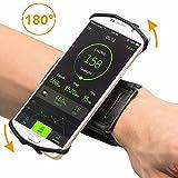 Sport Handgelenk Armband, FisherMo Drehbares Design 180°Rotierend Sportarmband Atmungsaktiv Handy Halter Ideal für Laufen Wandern Jogging Kompatibel mit iPhone X / 8 Plus Samsung Galaxy Note8