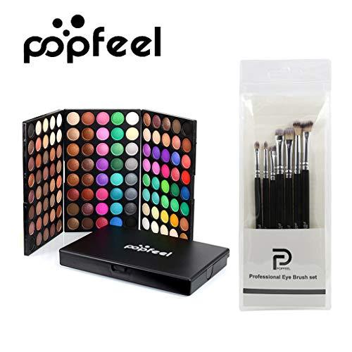 Cosmétique mat fard à paupières crème maquillage palette Shimmer ensemble 120 couleur + brosse ensemble