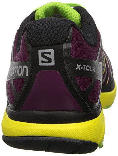 Salomon  X-tour W, Chaussures de marche pour femme - bleu - Azul / Azul Claro / Negro, 39 EU Violeta / Amarillo / Negro