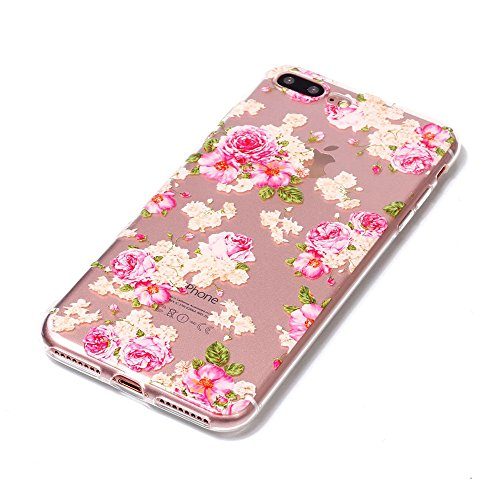 BENKER 3x iPhone 7 Plus Hülle, Kreativ Anti-Kratz Nicht Verblassen 3D Relief Malerei TPU Silikon Telefon Fall - Paket 1 Paket 2