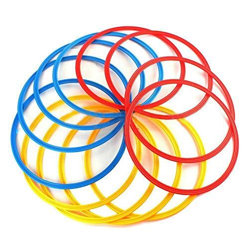 unststoff Toss Ringe für Kinder Ring Toss Spiel, Geschwindigkeit und Beweglichkeit Trainingsspiele, Karneval Garten Hinterhof Outdoor-Spiele, Brautdusche Spiel, Spielkabine(12 Pcs) ()