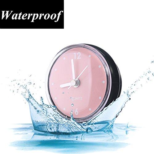 Kleine Wanduhr Einfache (Kreative Badezimmer Uhr Mini Wasserdichte Uhr mit Saugnapf für Badezimmer Küche SPA Sauna F)