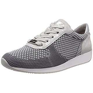 ARA Damen LISSABON Sneaker, (Grau-Hellgrau, Silber 10), 40 EU