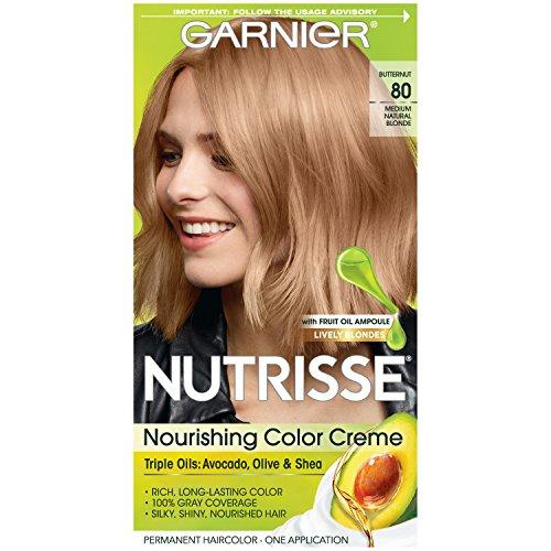 Garnier Nutrisse Permanent Creme Haircolor #80 Medium Natural Blonde (Butternut) (Haarfarbe)