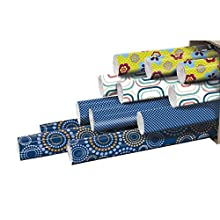 Clairefontaine Box of 12 Roll Wrapping Paper 2 mètres Bleu et Vert