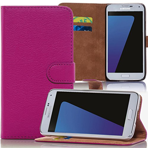 Numerva iPhone 4S Hülle, Schutzhülle [Bookstyle Handytasche Standfunktion, Kartenfach] PU Leder Tasche für Apple iPhone 4 Wallet Case [Pink] (4 Iphone Pink Wallet Etui)