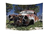 iPrint Old Car Decorations Tapestry Old Car Trees - Best Reviews Guide