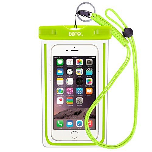 EOTW IPX8 Custodia Impermeabile per Smartphone Fino a 6 Pollici Touch Screen,Sacchetto Impermeabile Cellulare iPhone 6 plus/6s plus,OnePlus 2/3,Huawei P8/P8 lite/P9 lite plus,Samsung Galaxy S6/S6 edge plus/S7/S7 edge,LG 5/4/3/2 ecc - Verde