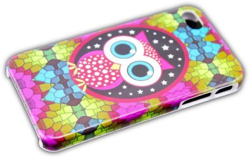 Apple iPhone 4/4S HARD Case Ours Panda Cro Rapper Coque de protection design Hard Case coque etui thematys® Nacht Eule