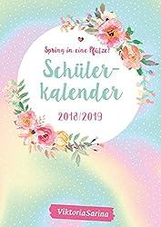 Schülerkalender 2018/2019: von Viktoria Sarina mit Stickerbögen