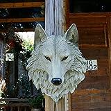 lianxi Industrie und Handel Wolf Skulptur Wand aufhängen Kunstharz Wolf Head Wand Decor Tier Statue Home Decor