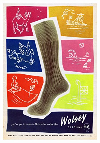 Wolsey-Calzini, 3-Old-school Vintage, laminato, uso commerciale, 150 micron, dimensioni foto di alta qualità, formato A3