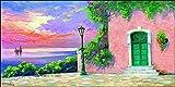 L'AFFICHE ILLUSTREE Poster artprint Giberna 'Al tramonto' stampa in offset su carta gr. 300(cartoncino) cod.33962 cm.140x70