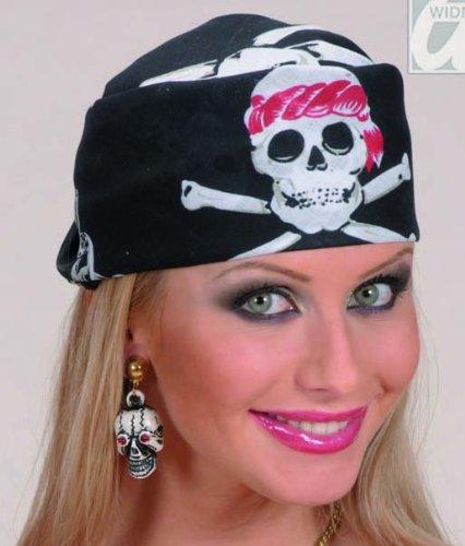 NEU Bandana Pirat, mit Totenköpfen, 55x55 cm (Biker Kostüm Ideen)