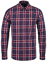 Lyle & Scott Check Shirt Navy Ruby XX Large