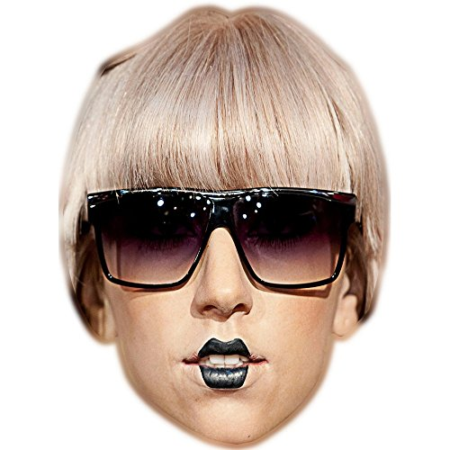 Lady Gaga (Brille) Celebrity Maske, Karton Gesicht und Kostüm Maske