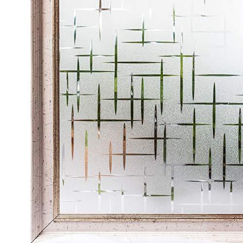 effetto ghiacciato privi di colla CottonColors 3D Vinile 23.6 by 78.7 In autoadesivi per vetri transparent Adesivi decorativi statici a pellicola