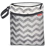 Skip Hop Grab and Go Wet/Dry Bag Chevron (Grey)