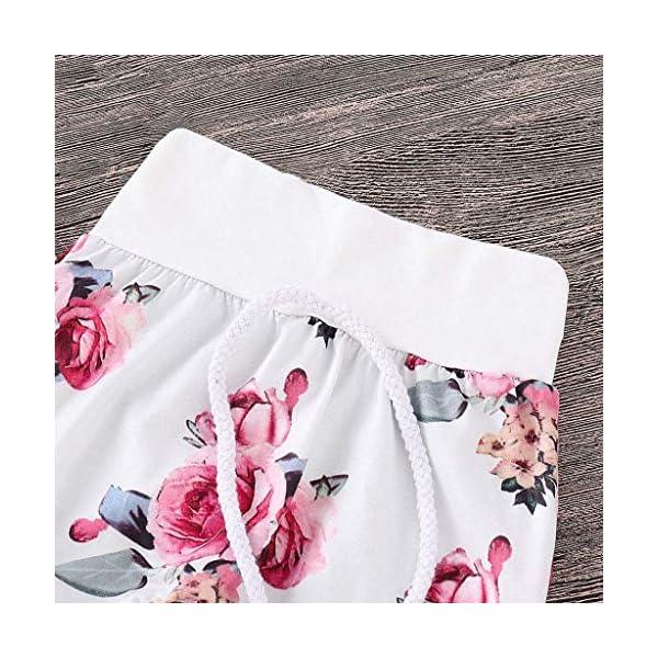 Ropa NiñOs NiñA Bebé Manga Larga Estampado Floral Camiseta Tops CháNdal Sudaderas con Capucha + Pantalones Trajes… 5