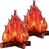 Boao 3D Torche de Flamme au Centre de Feu de Camp en Carton Décoratif Feu Artificiel...