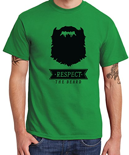 -- Respect the Beard -- Boys T-Shirt Kelly Green
